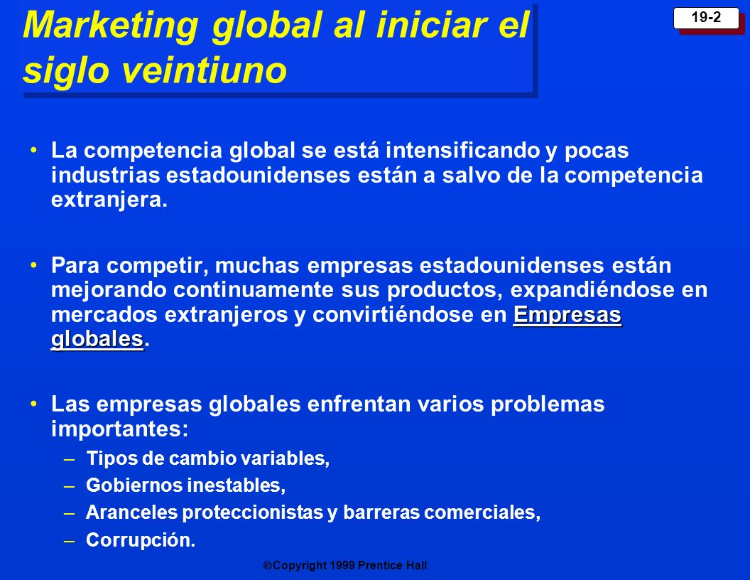 Marketing global al iniciar el siglo veintiuno