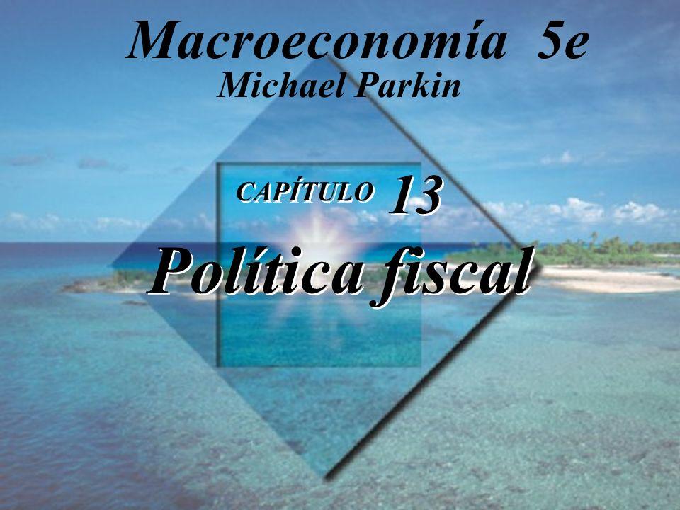 CAPÍTULO 13 Política fiscal