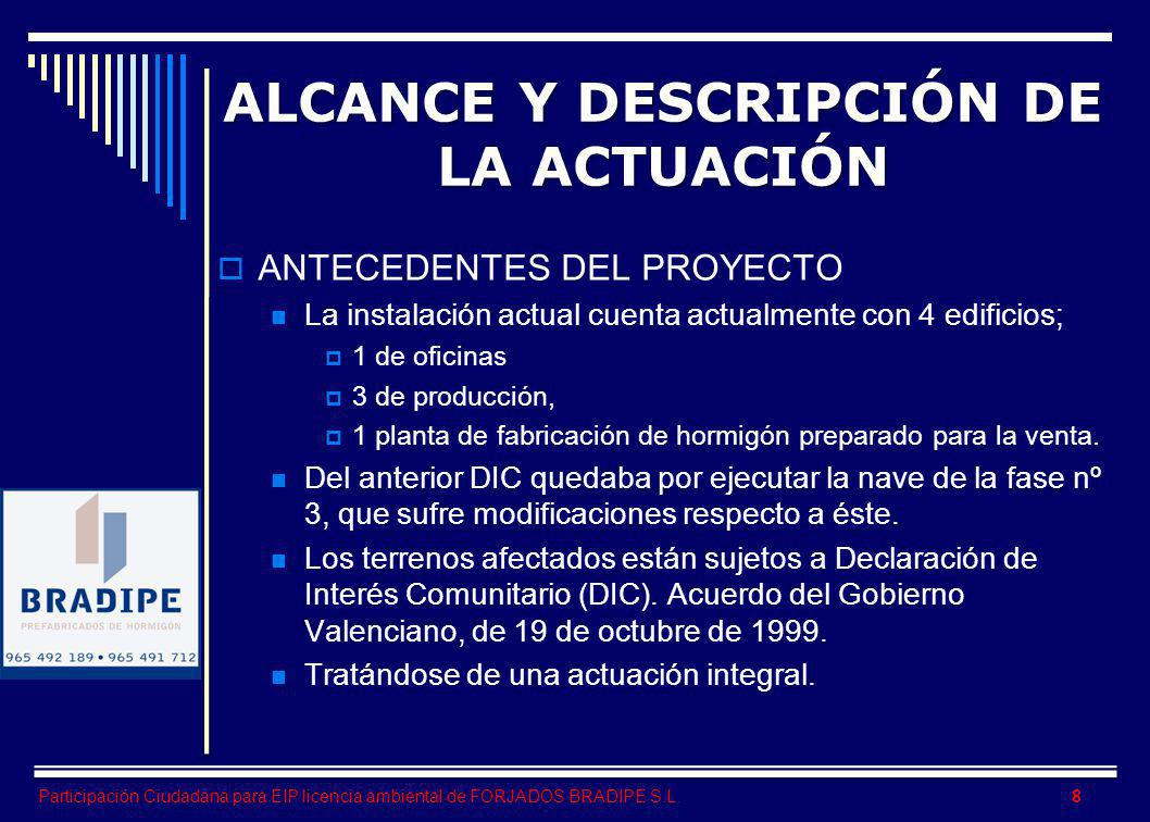 ALCANCE Y DESCRIPCIÓN DE LA ACTUACIÓN
