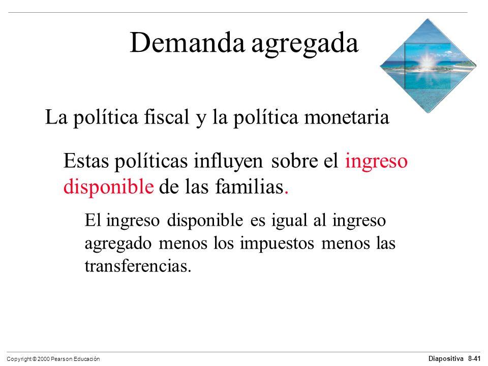 Demanda agregada La política fiscal y la política monetaria