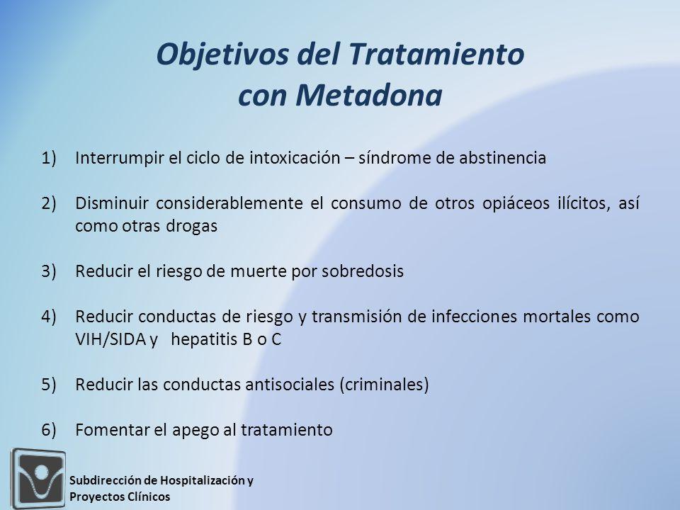 Objetivos del Tratamiento con Metadona