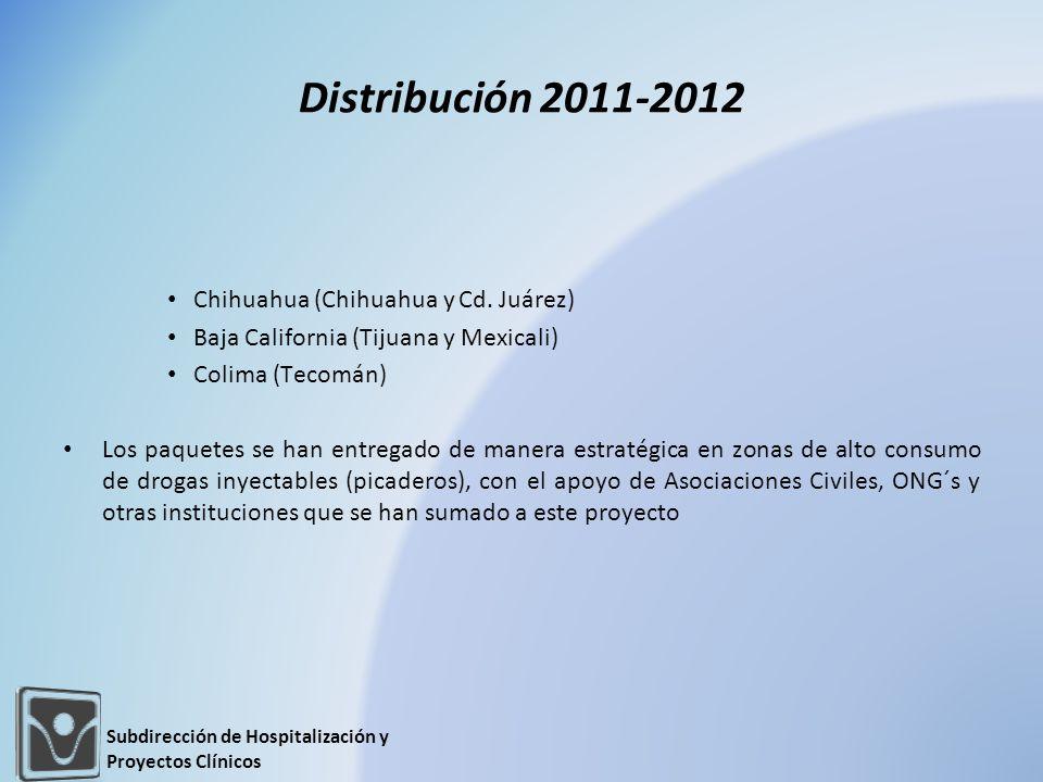 Distribución 2011-2012 Chihuahua (Chihuahua y Cd. Juárez)