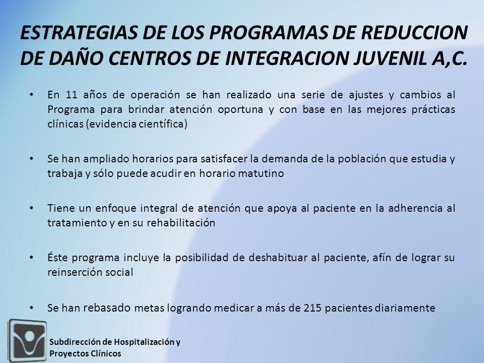 ESTRATEGIAS DE LOS PROGRAMAS DE REDUCCION DE DAÑO CENTROS DE INTEGRACION JUVENIL A,C.