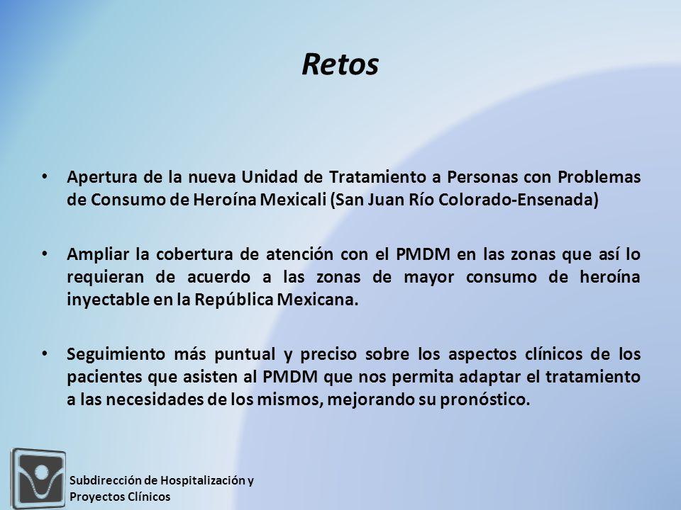 Retos Apertura de la nueva Unidad de Tratamiento a Personas con Problemas de Consumo de Heroína Mexicali (San Juan Río Colorado-Ensenada)