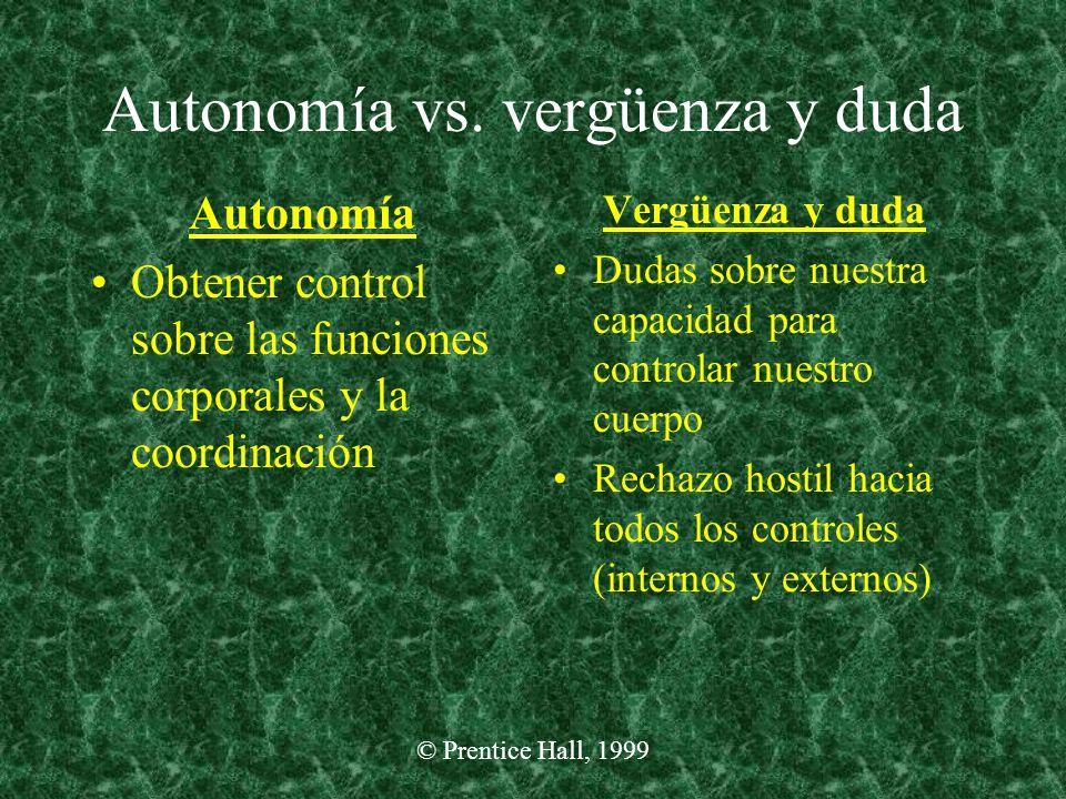 Autonomía vs. vergüenza y duda