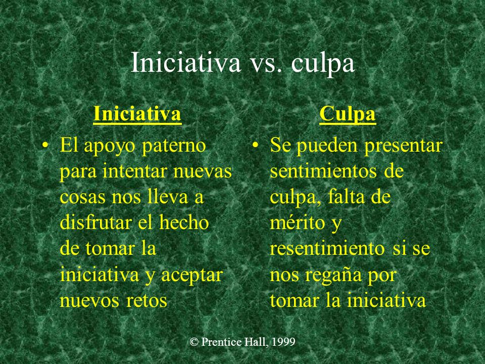 Iniciativa vs. culpa Iniciativa