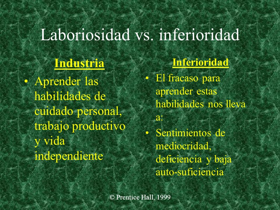 Laboriosidad vs. inferioridad