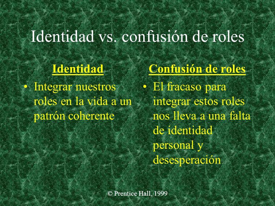 Identidad vs. confusión de roles