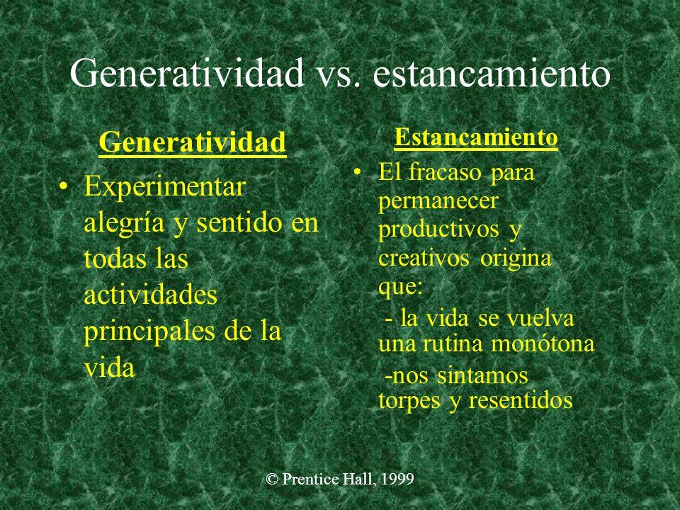 Generatividad vs. estancamiento