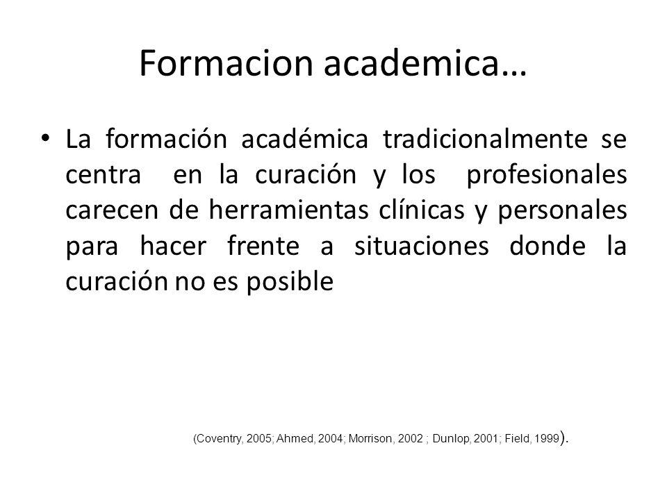Formacion academica…
