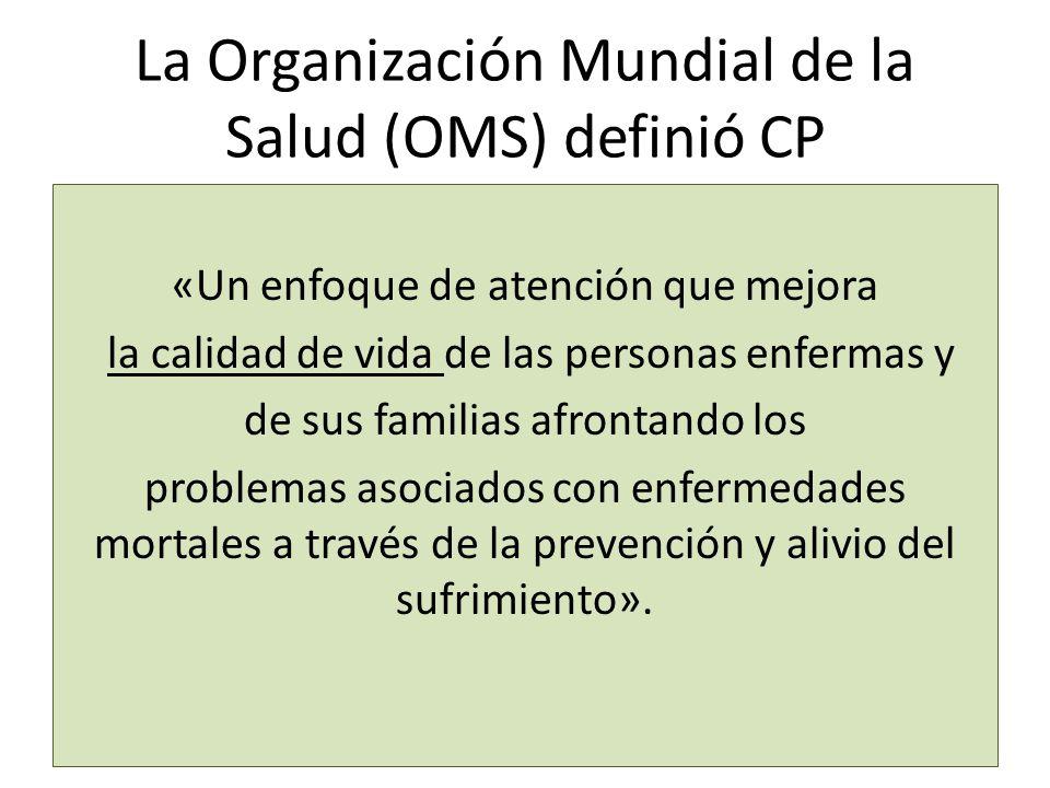 La Organización Mundial de la Salud (OMS) definió CP