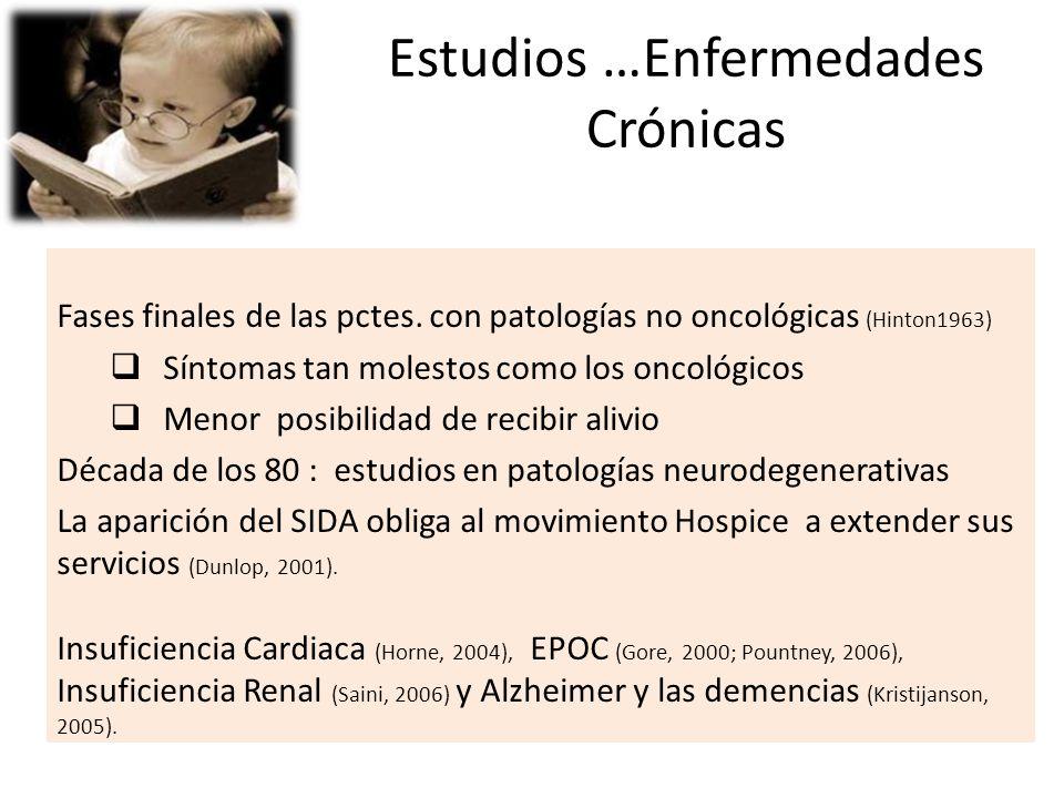 Estudios …Enfermedades Crónicas