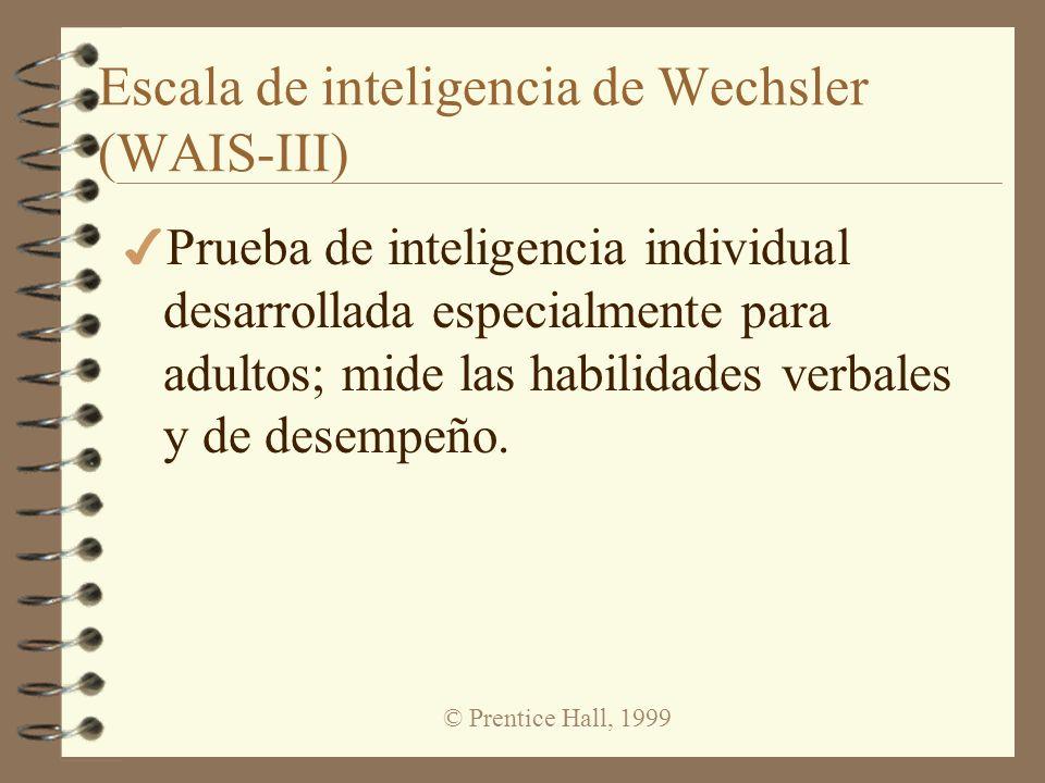 Escala de inteligencia de Wechsler (WAIS-III)
