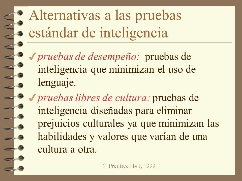 Alternativas a las pruebas estándar de inteligencia