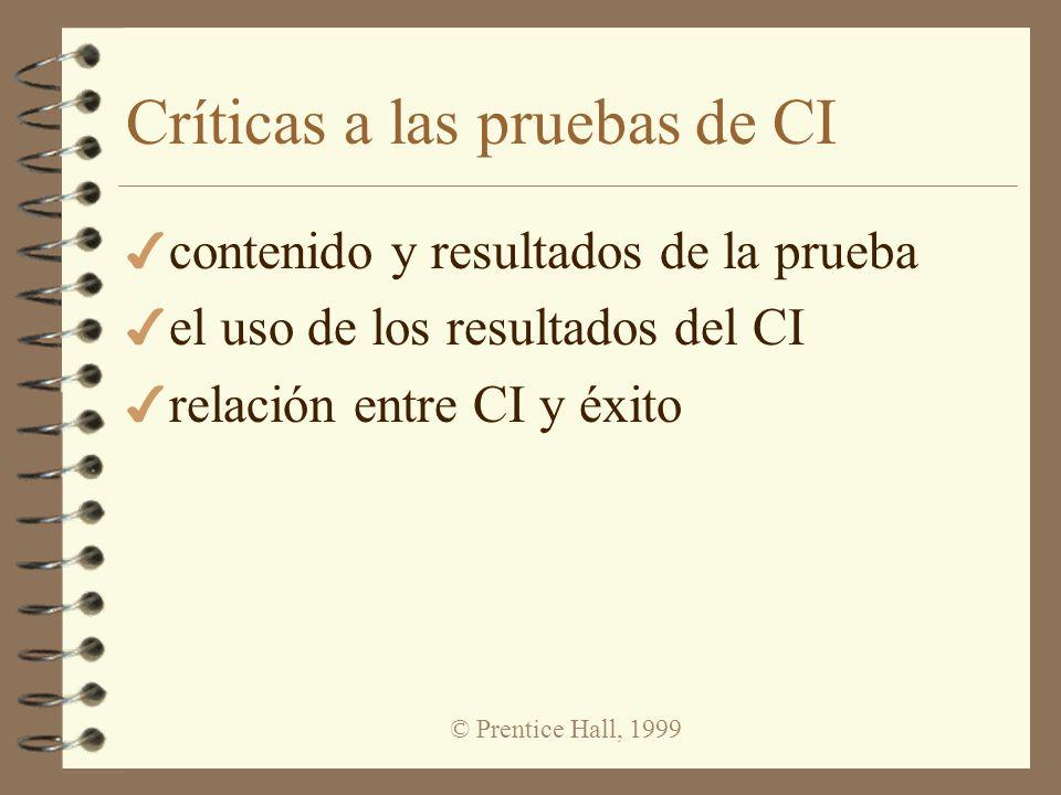 Críticas a las pruebas de CI