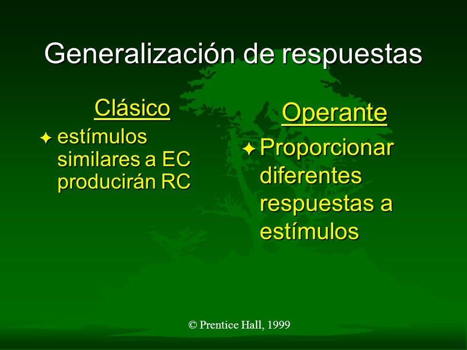 Generalización de respuestas