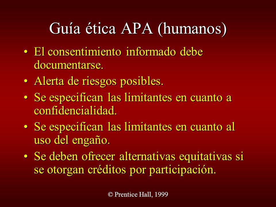Guía ética APA (humanos)