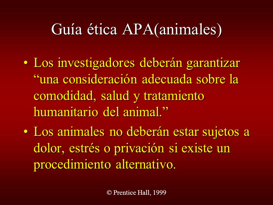 Guía ética APA(animales)