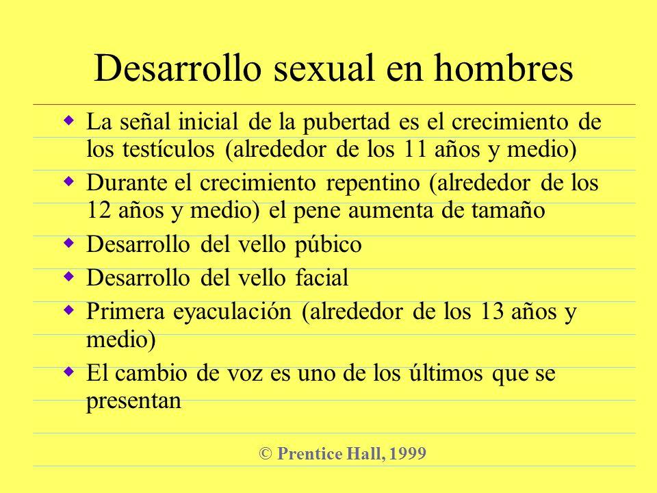 Desarrollo sexual en hombres