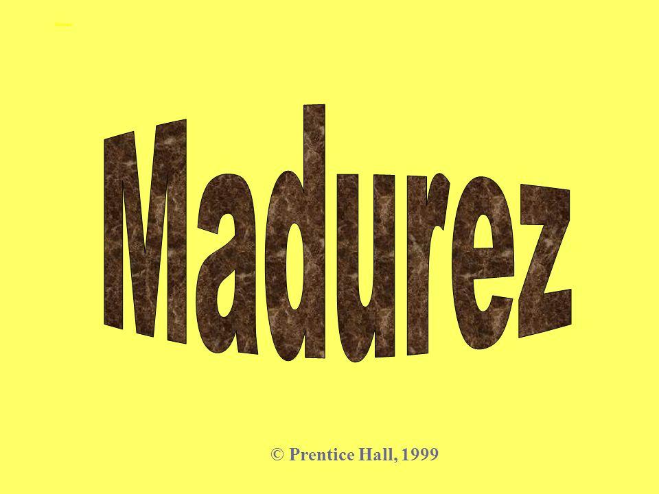 Madurez Madurez © Prentice Hall, 1999