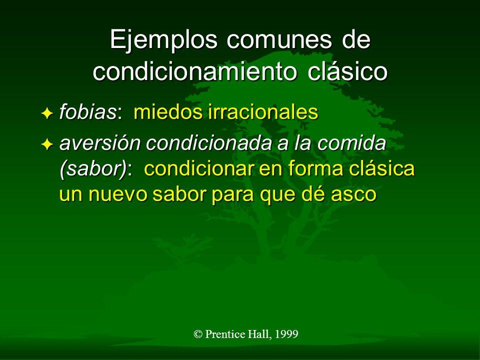 Ejemplos comunes de condicionamiento clásico