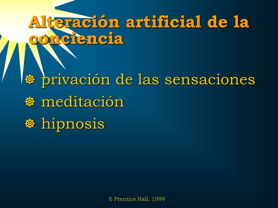 Alteración artificial de la conciencia