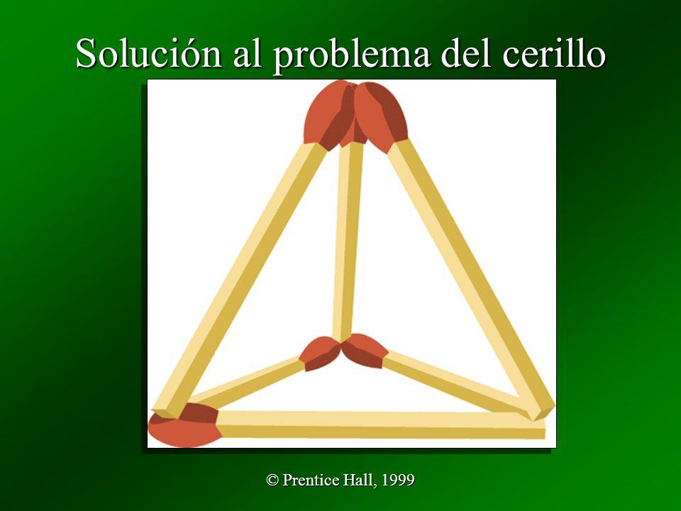 Solución al problema del cerillo
