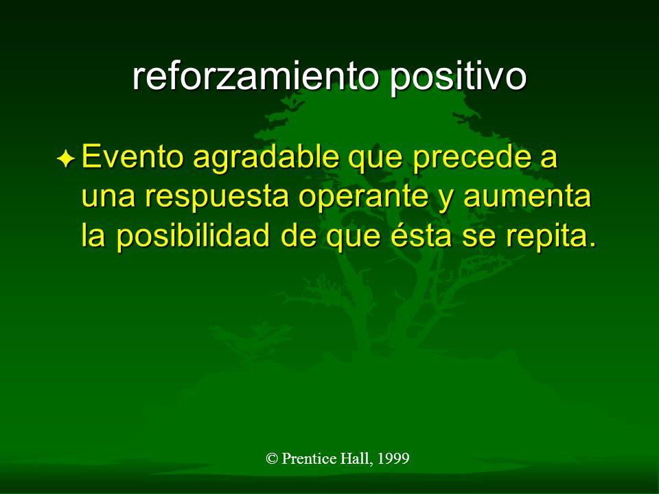 reforzamiento positivo