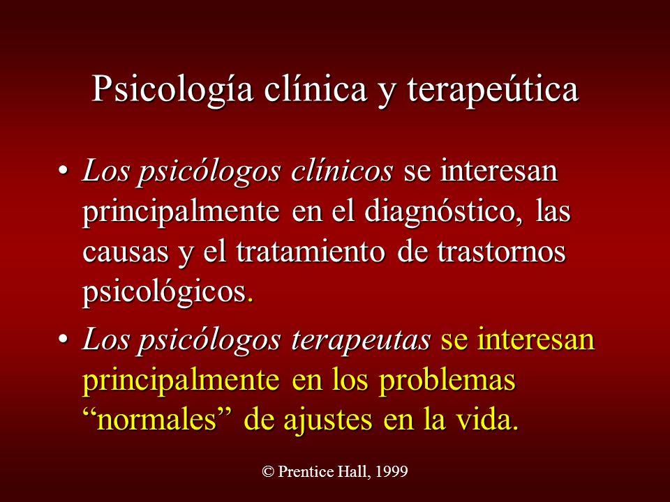 Psicología clínica y terapeútica