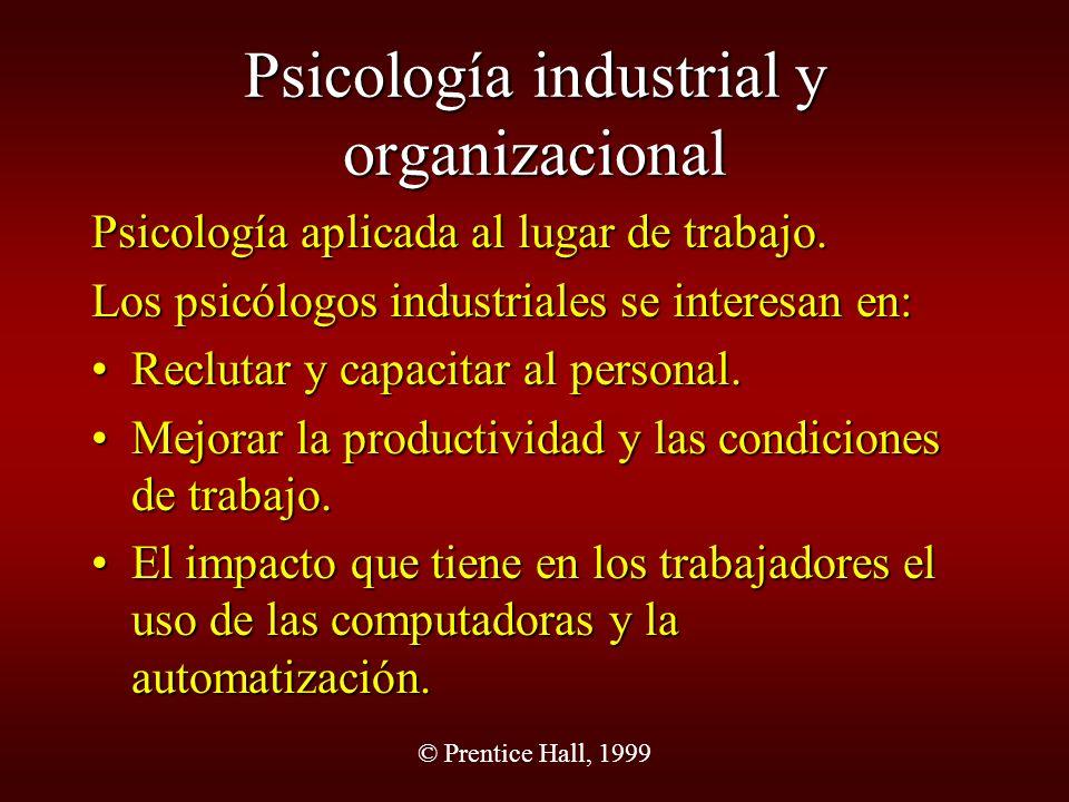 Psicología industrial y organizacional