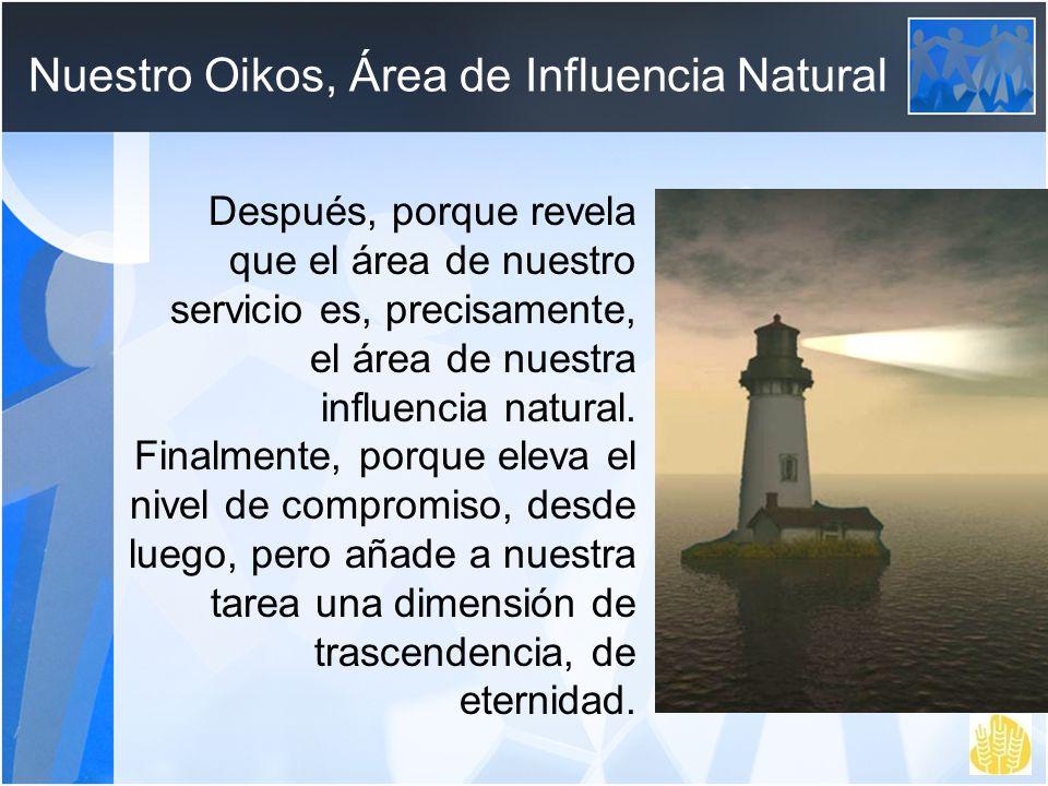 Nuestro Oikos, Área de Influencia Natural
