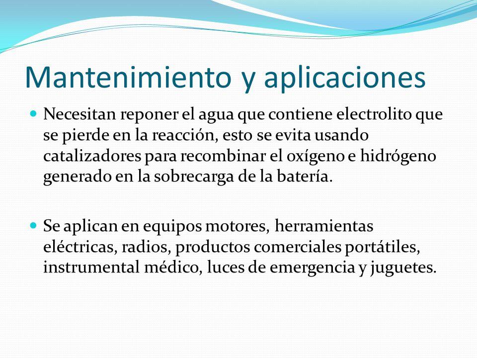 Mantenimiento y aplicaciones