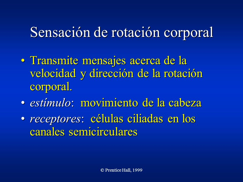 Sensación de rotación corporal