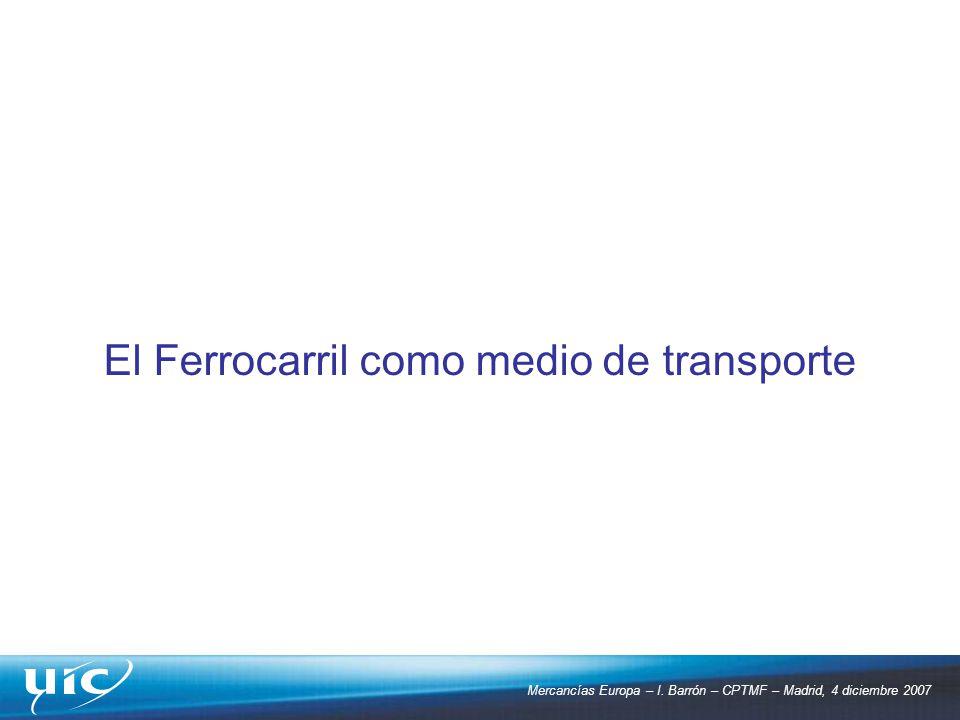 El Ferrocarril como medio de transporte