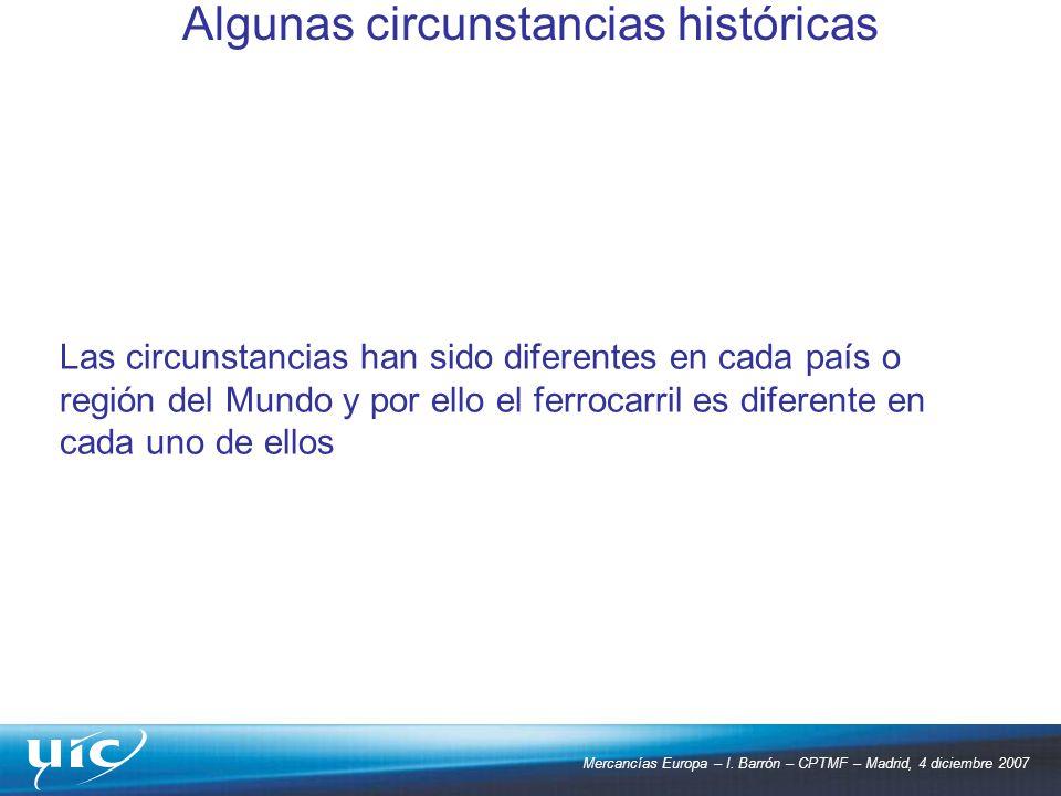 Algunas circunstancias históricas