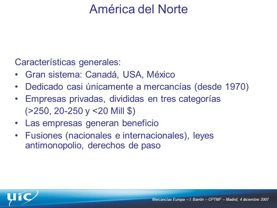América del Norte Características generales: