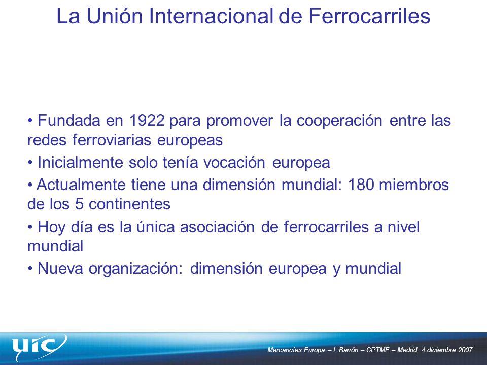 La Unión Internacional de Ferrocarriles
