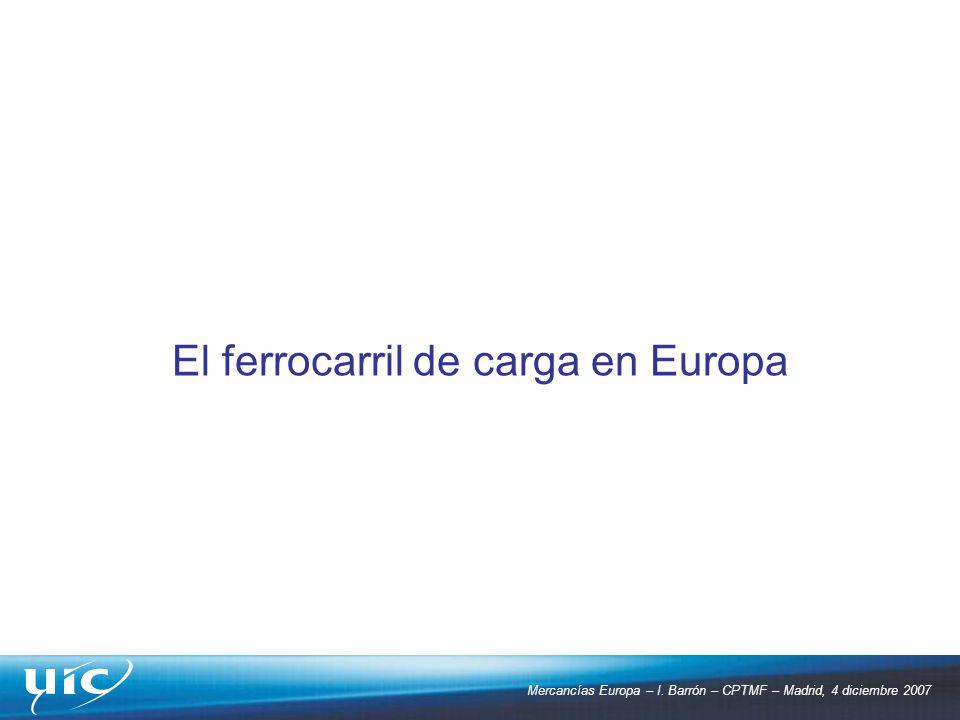 El ferrocarril de carga en Europa