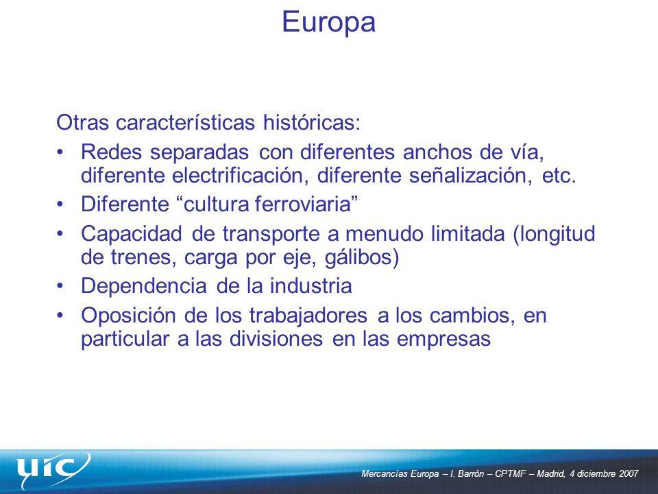Europa Otras características históricas: