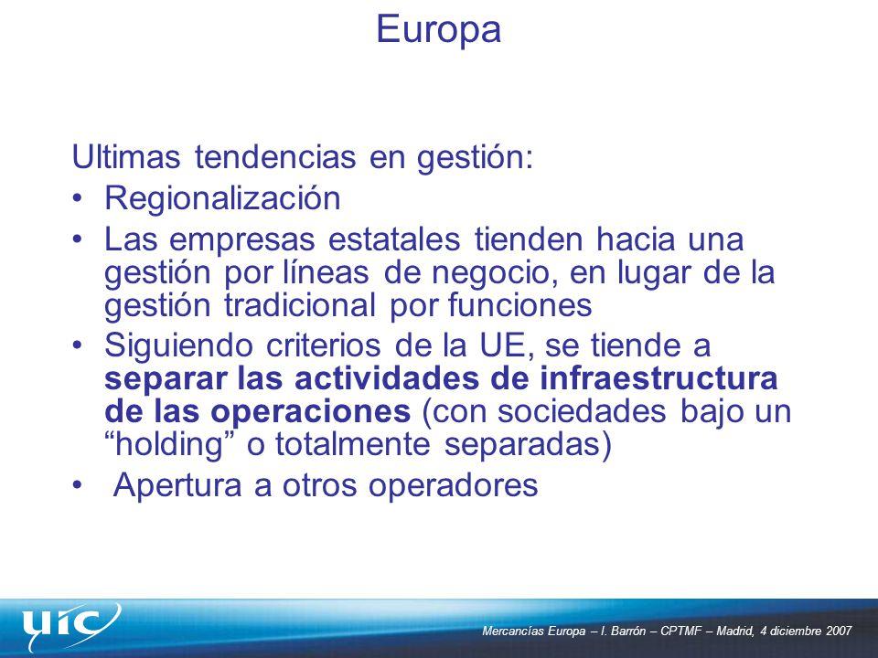 Europa Ultimas tendencias en gestión: Regionalización
