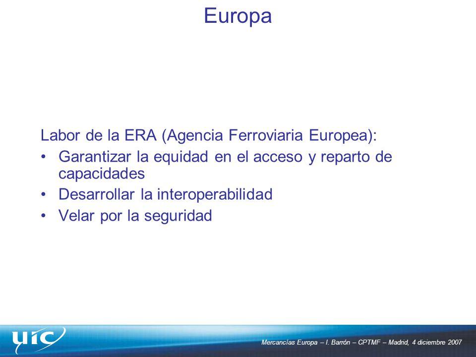 Europa Labor de la ERA (Agencia Ferroviaria Europea):