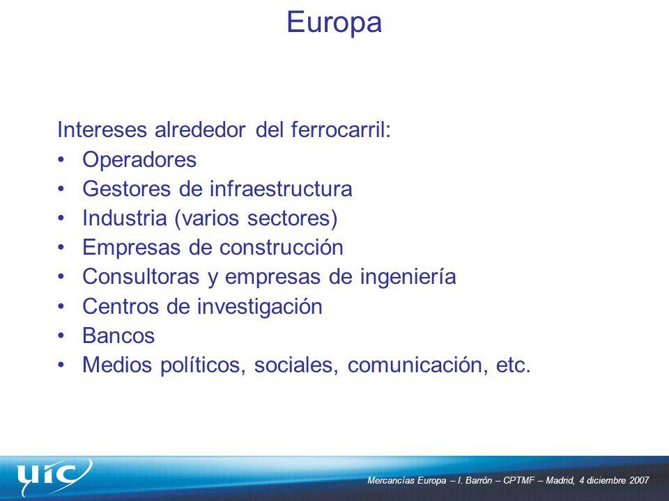 Europa Intereses alrededor del ferrocarril: Operadores