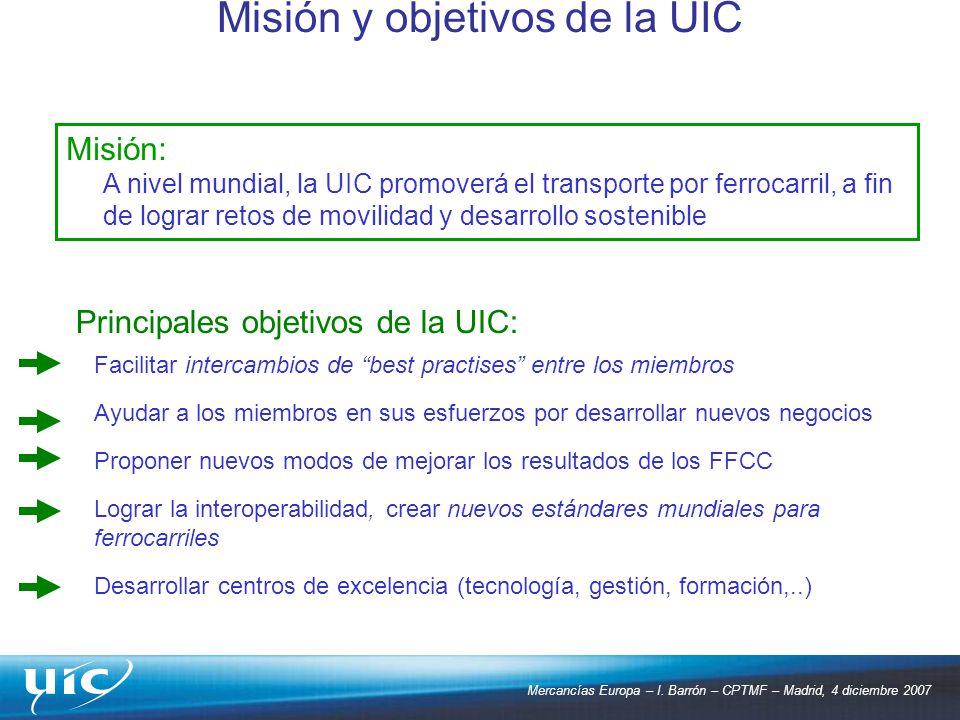 Misión y objetivos de la UIC