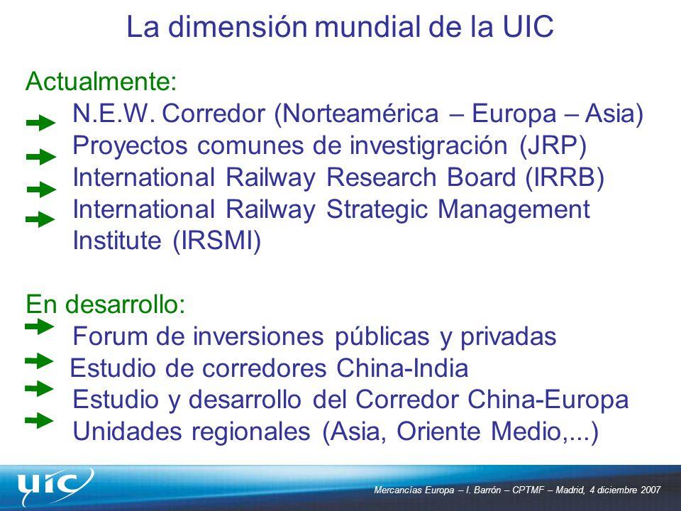 La dimensión mundial de la UIC