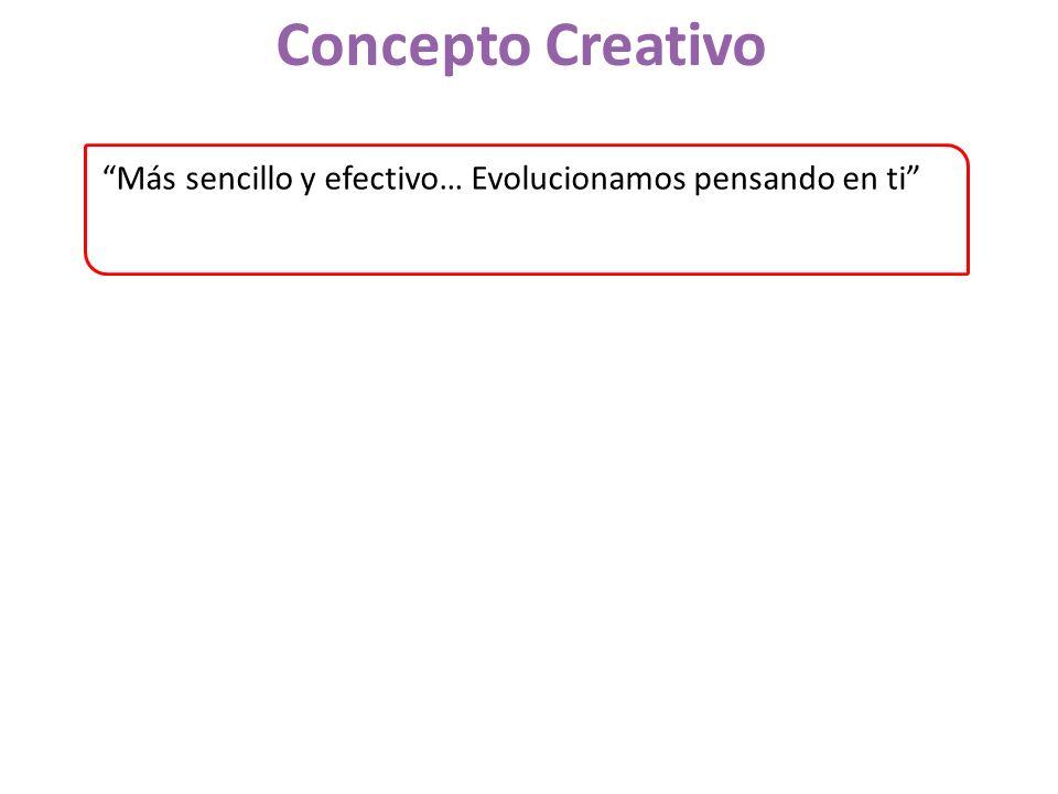 Concepto Creativo Más sencillo y efectivo… Evolucionamos pensando en ti