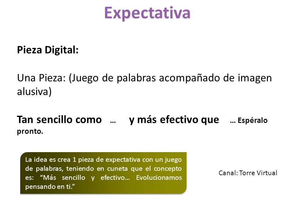 Expectativa Pieza Digital: