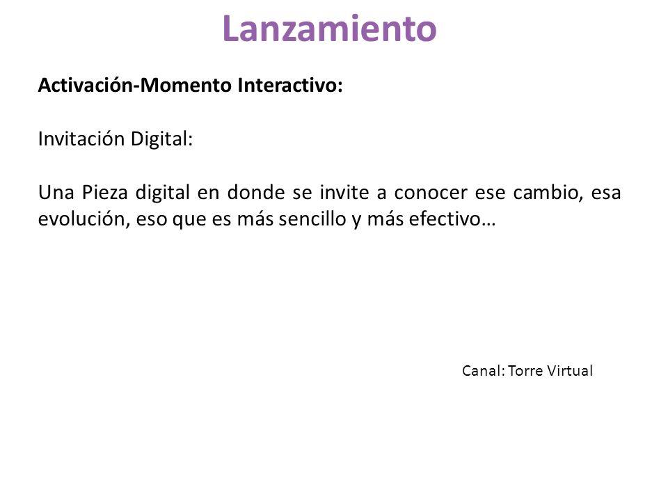 Lanzamiento Activación-Momento Interactivo: Invitación Digital: