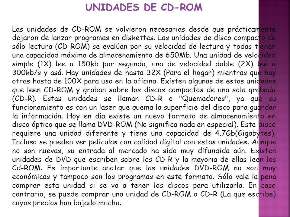 UNIDADES DE CD-ROM