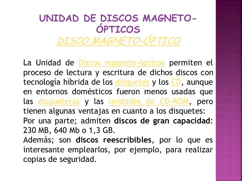 UNIDAD DE DISCOS MAGNETO-ÓPTICOS