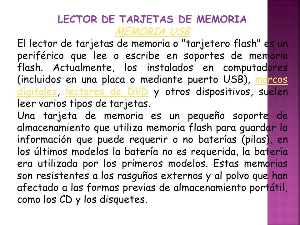 LECTOR DE TARJETAS DE MEMORIA